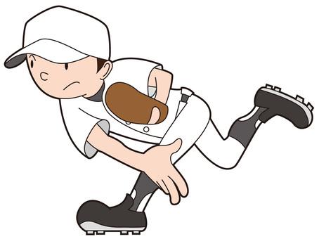 Baseball boy who threw a ball