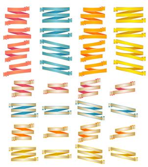 Ribbon curl set pattern 3