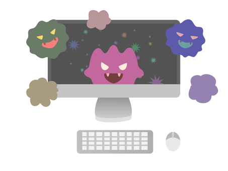 Computer virus infection image material