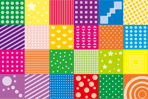 Wallpaper - Patchwork S - Colorful