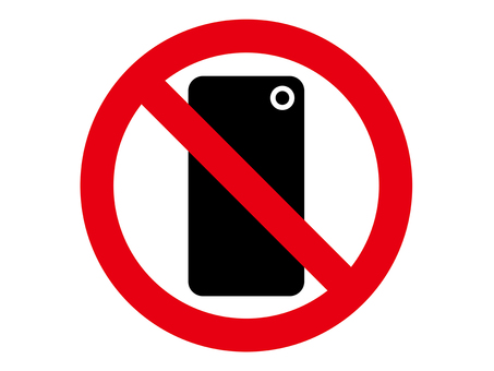 Smartphone photography prohibition icon