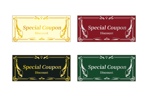 Coupon set without face value set