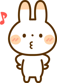 A rabbit whistling