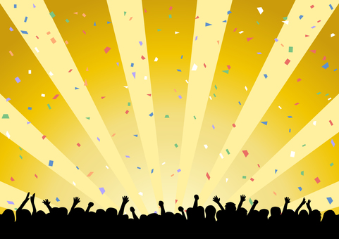 Audience silhouette confetti