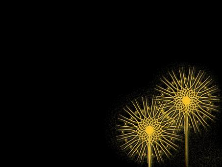 Golden Flower Fire Wallpaper (2160)