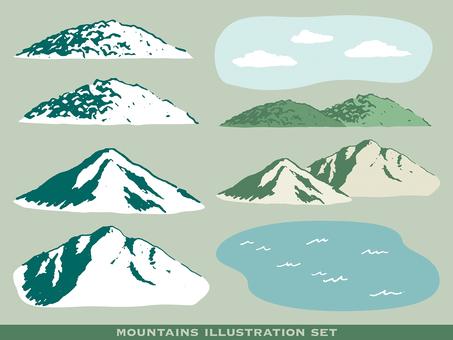 Illustration set mountain 01
