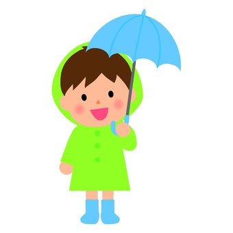 A boy popping an umbrella