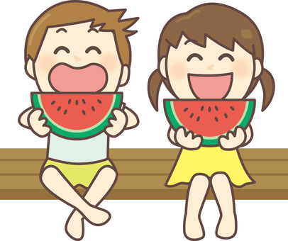 Child to eat watermelon 01