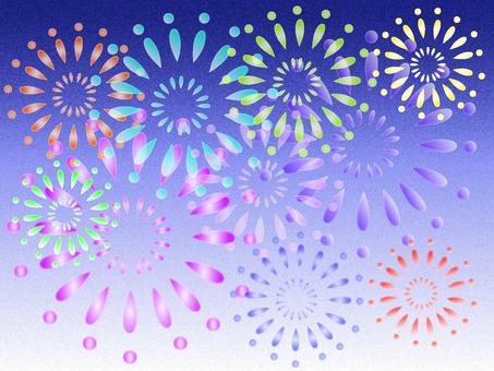 Sparkling fireworks Ⅱ