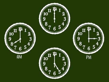 칠판에 시계