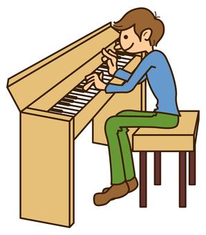 Men who play 253 piano