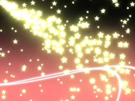 Particle star (background pink)