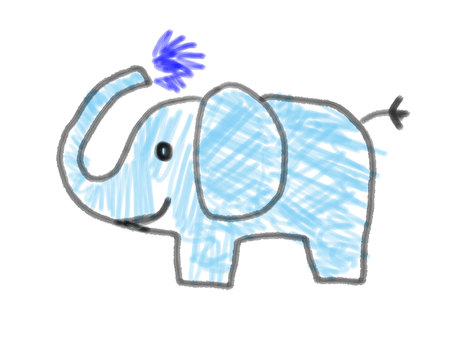 Elephant child's picture