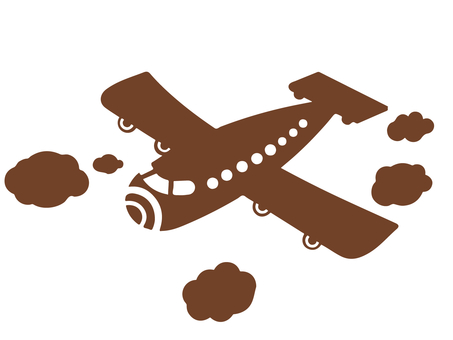 Airplane Brown Silhouette