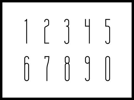0-9 numeric font