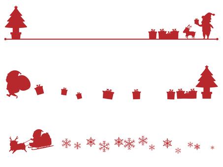 Christmas silhouette line
