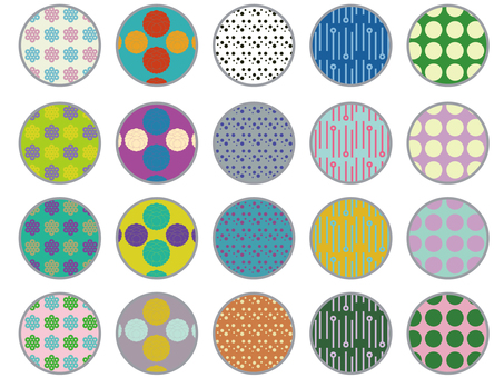 Retro modern pattern