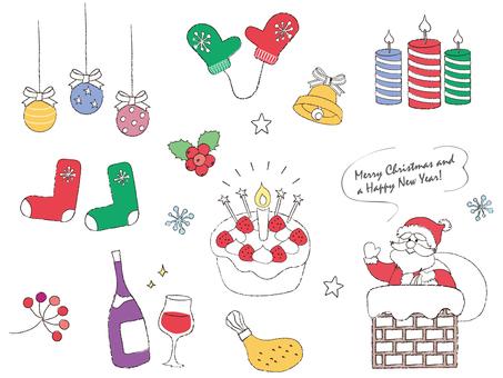 クリスマス_手描き風_1