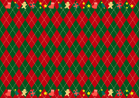 Christmas present argyle background