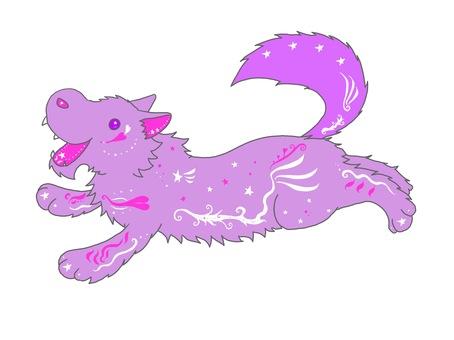 Dream cute wolf