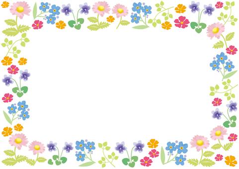 Spring flower frame 1