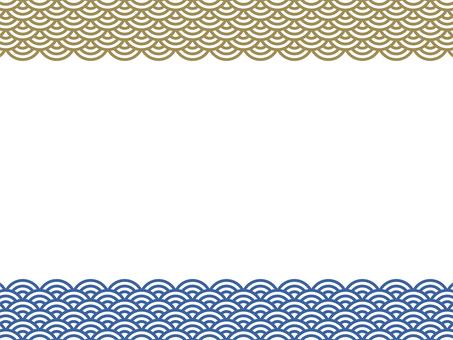 Japanese style frame - 01 (Qinghai wave)
