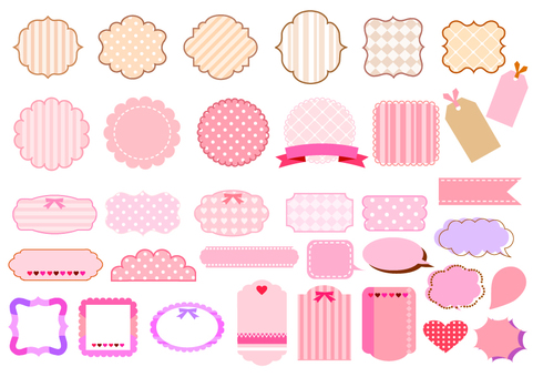 Girly frame, assorted bubbly assortment