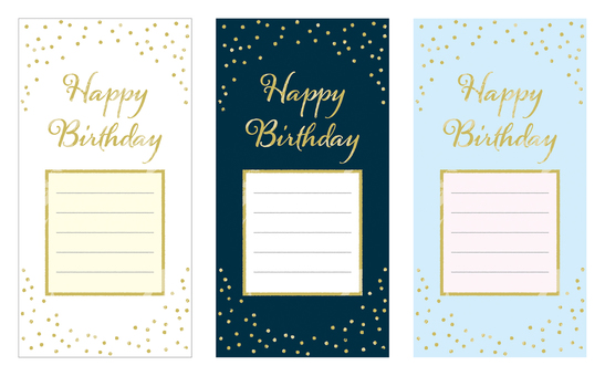 Large format birthday card