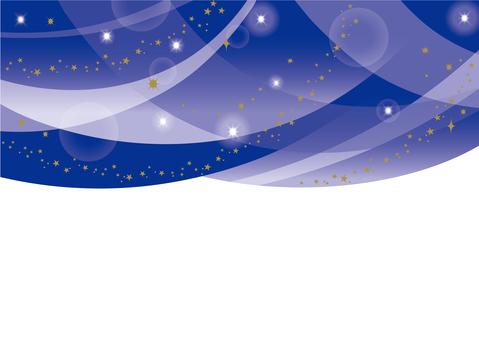 Starry sky drape