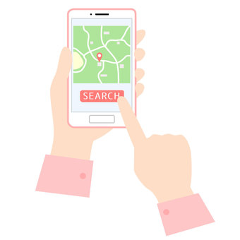 Map search with smartphone
