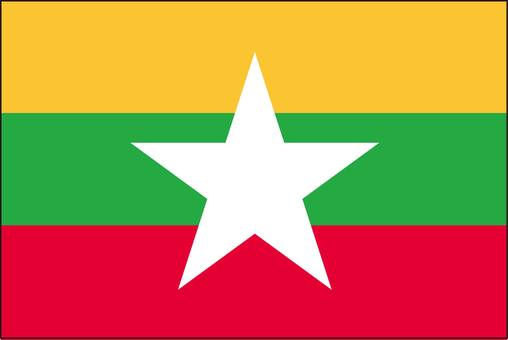 Myanmar flag (without name)
