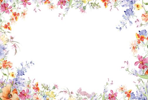花枠294-ハガキサイズ楽しいガーデン