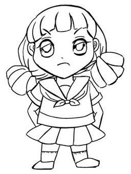 Sailor suit Chibi character