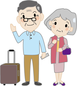 Senior couple travel