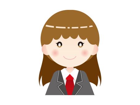 미소 여학생