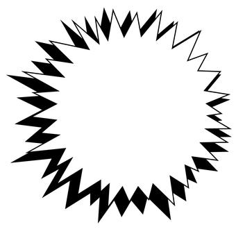 Circular explosion frame (monochrome)