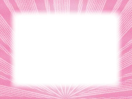 寬框架(19)太陽地平線粉紅色