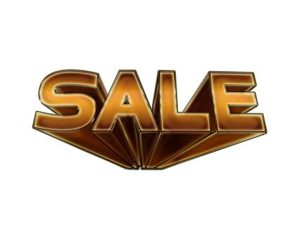 SALE three-dimensional logo