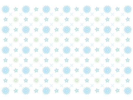 Flower monogram pattern (blue series)