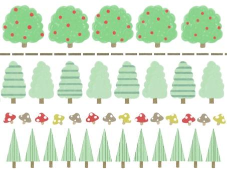 Wood and mushroom line