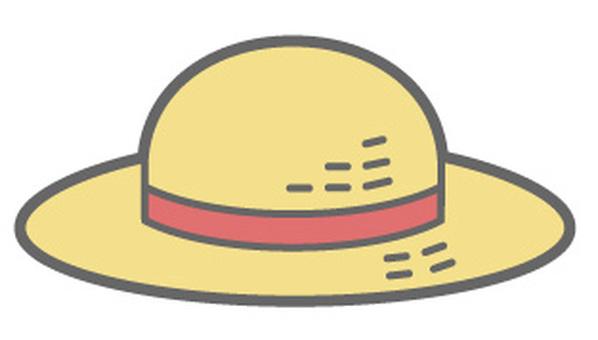 Summer Item - Straw Hat Red