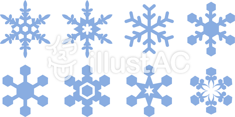雪の結晶イラスト No 1037630無料イラストならイラストac