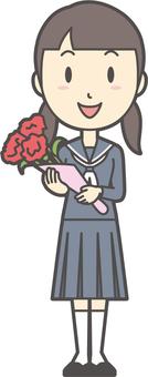 중학생 세일러 여성 -153- 전신