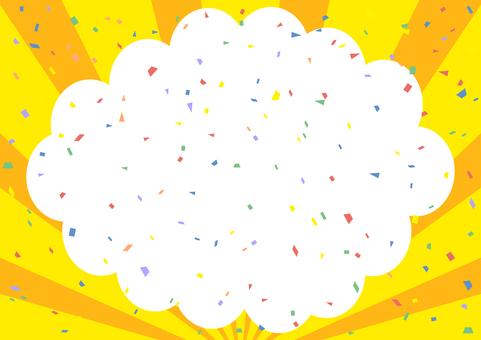 Speech bubble confetti background