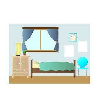 藍色的房間