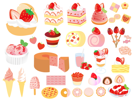 Strawberry exhausted set