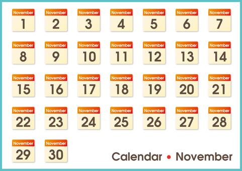 Calendar only November