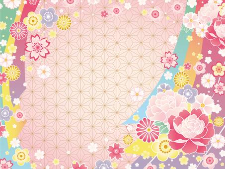 Japanese Pattern Background (Pink) 02