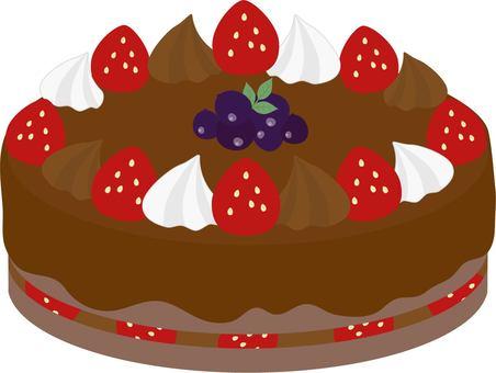 Strawberry chocolate hall cake