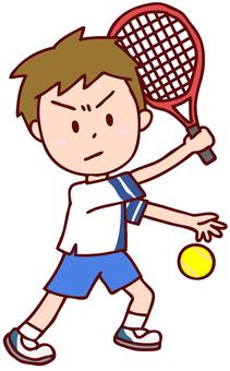 Illustration of men playing tennis